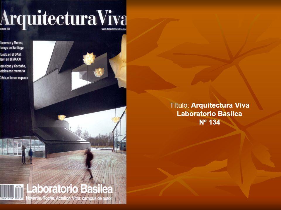 Título: Arquitectura Viva