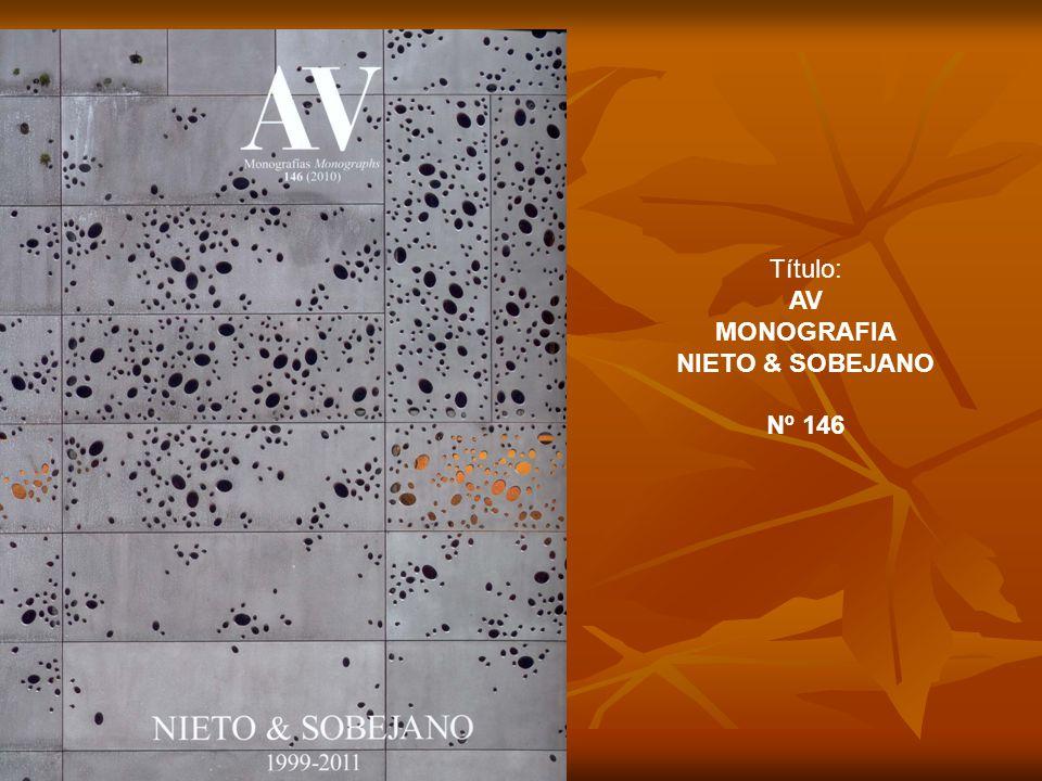 Título: AV MONOGRAFIA NIETO & SOBEJANO Nº 146
