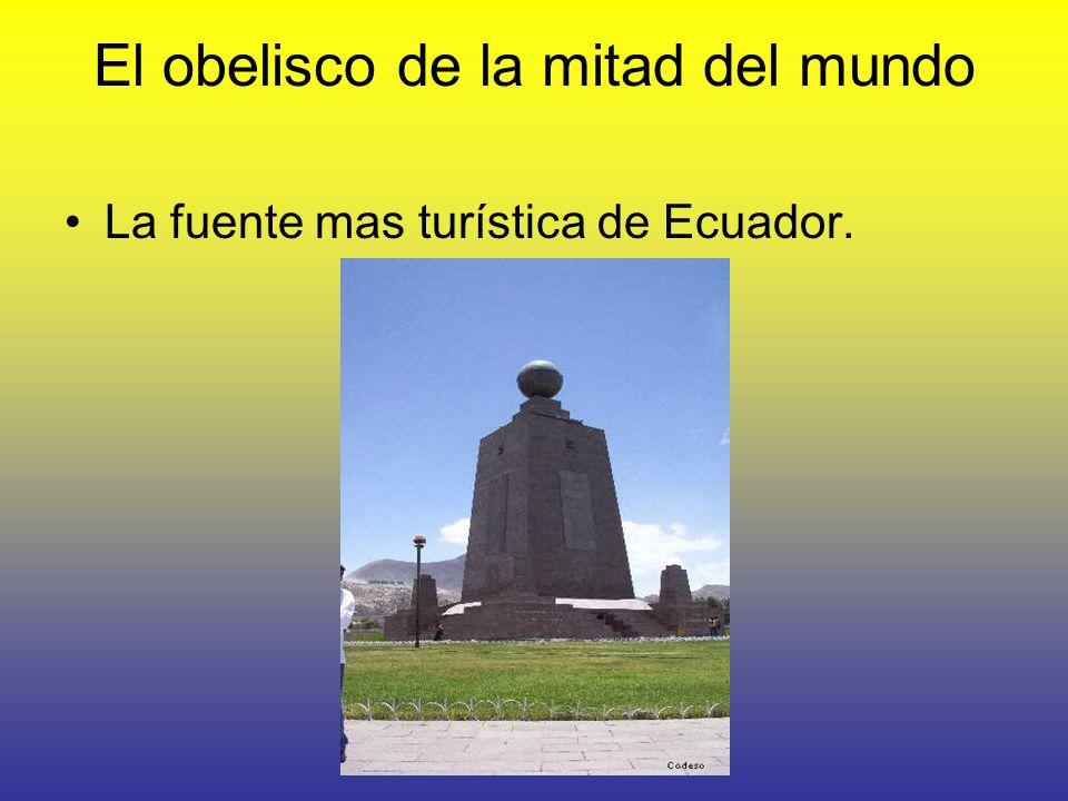 El obelisco de la mitad del mundo