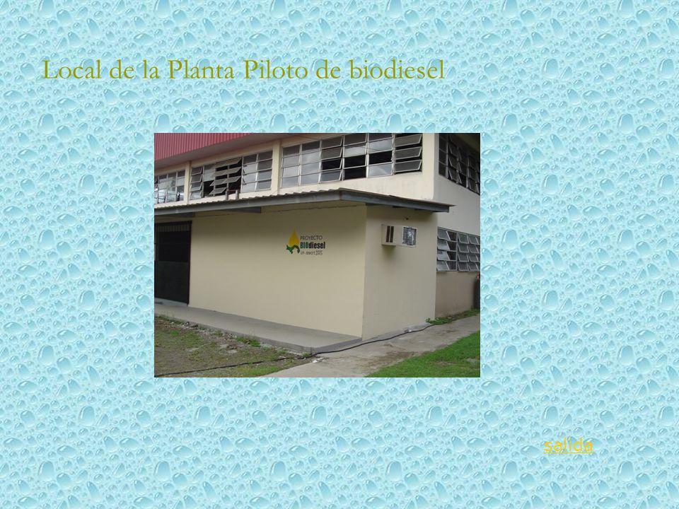 Local de la Planta Piloto de biodiesel