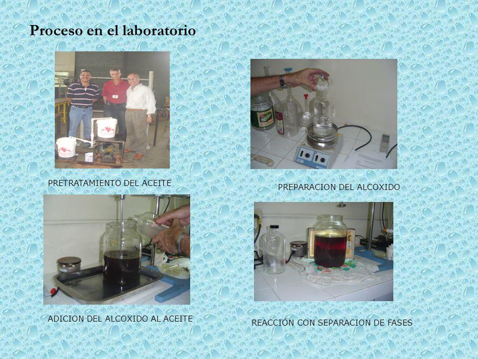 Proceso en el laboratorio