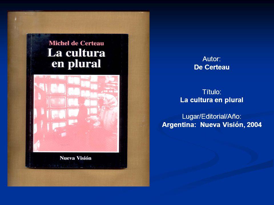 Argentina: Nueva Visión, 2004