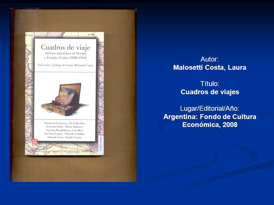 Argentina: Fondo de Cultura Económica, 2008