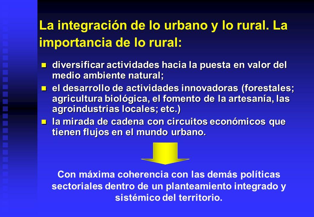 La integración de lo urbano y lo rural. La importancia de lo rural:
