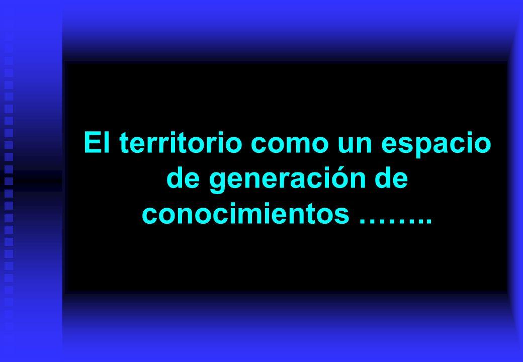El territorio como un espacio de generación de conocimientos ……..