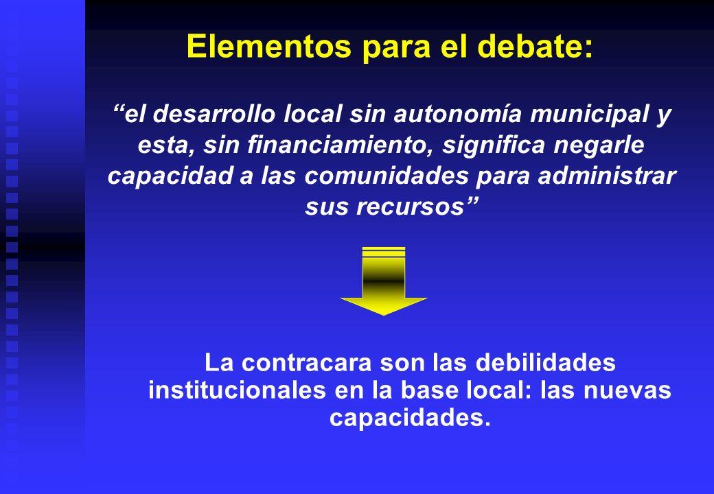 Elementos para el debate: