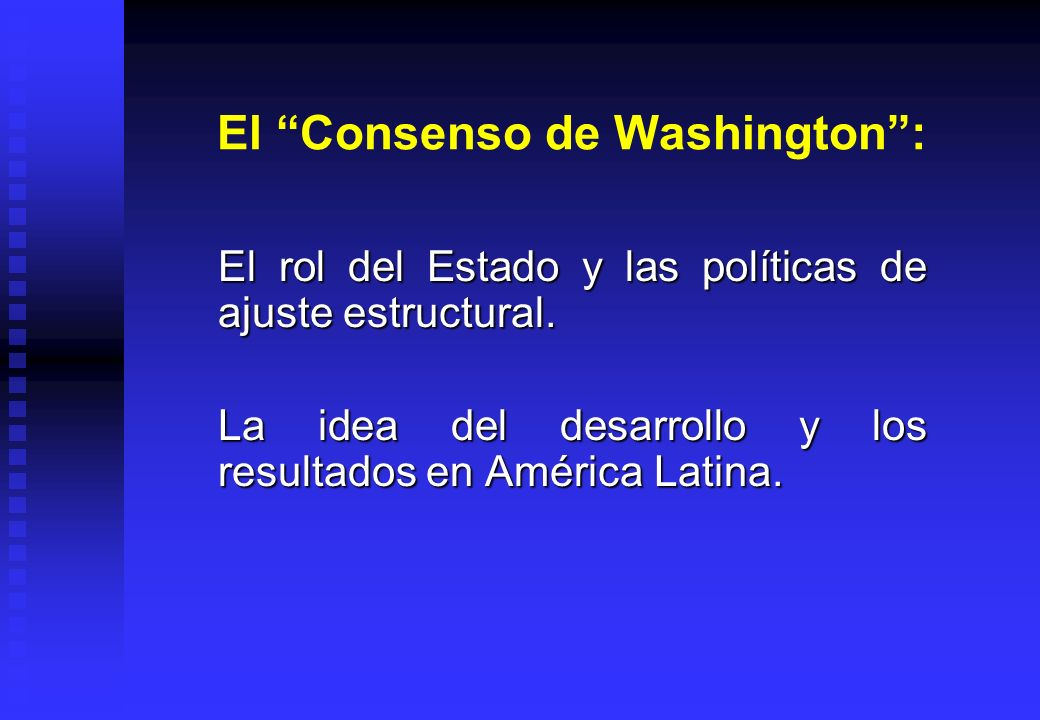 El Consenso de Washington :
