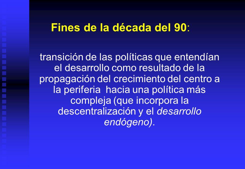 Fines de la década del 90: