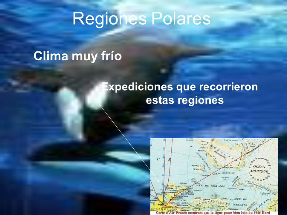 Expediciones que recorrieron estas regiones