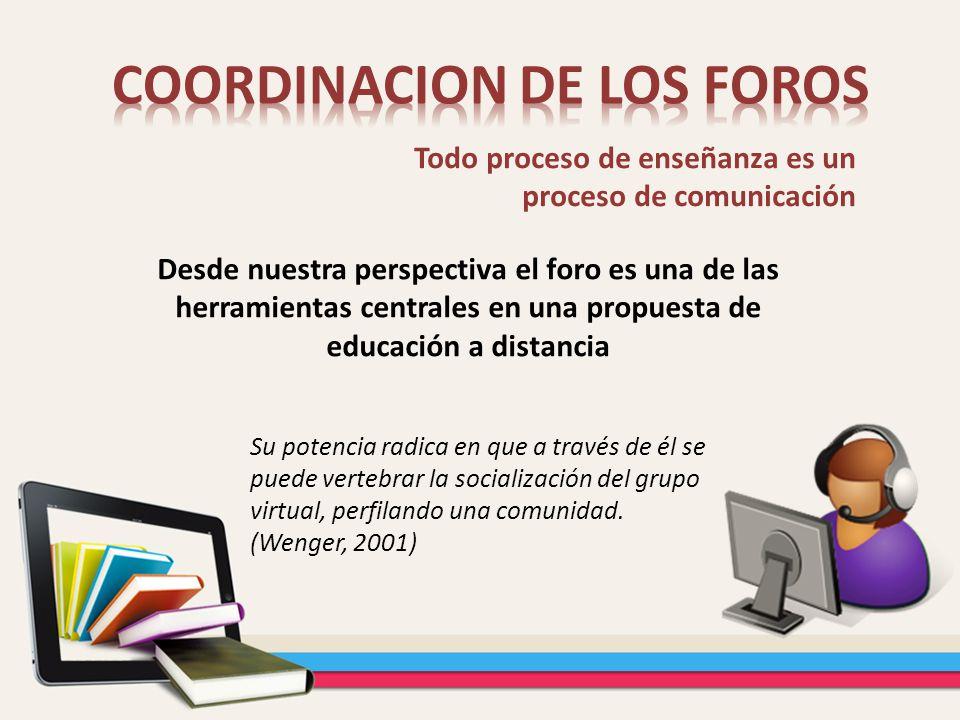 COORDINACION DE LOS FOROS