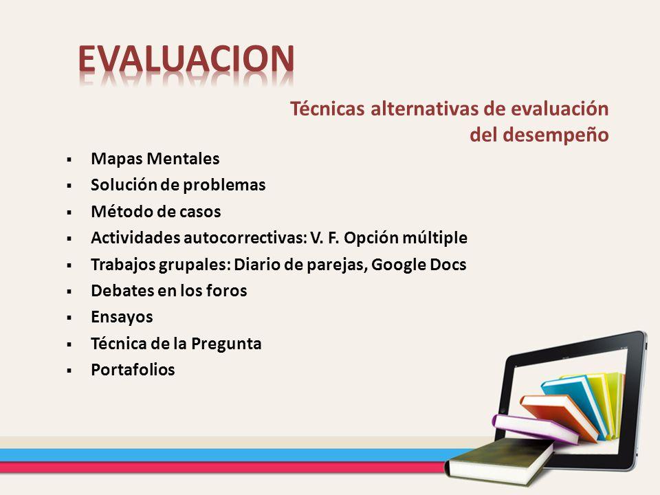 EVALUACION Técnicas alternativas de evaluación del desempeño