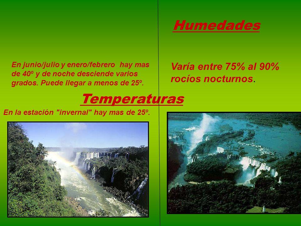 Humedades Temperaturas Varía entre 75% al 90% rocíos nocturnos.