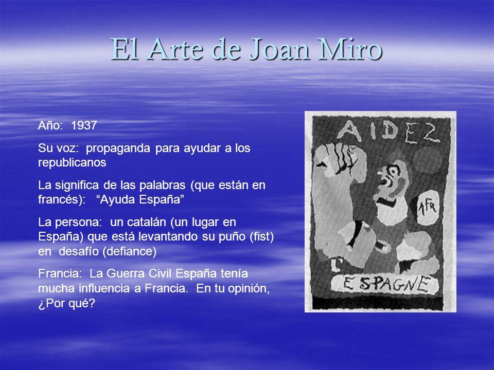 El Arte de Joan Miro Año: 1937