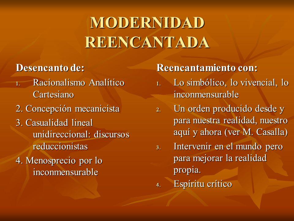 MODERNIDAD REENCANTADA