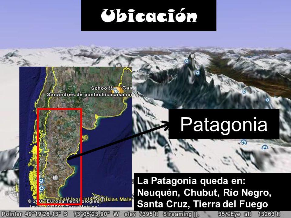 Ubicación Patagonia La Patagonia queda en: Neuquén, Chubut, Río Negro, Santa Cruz, Tierra del Fuego