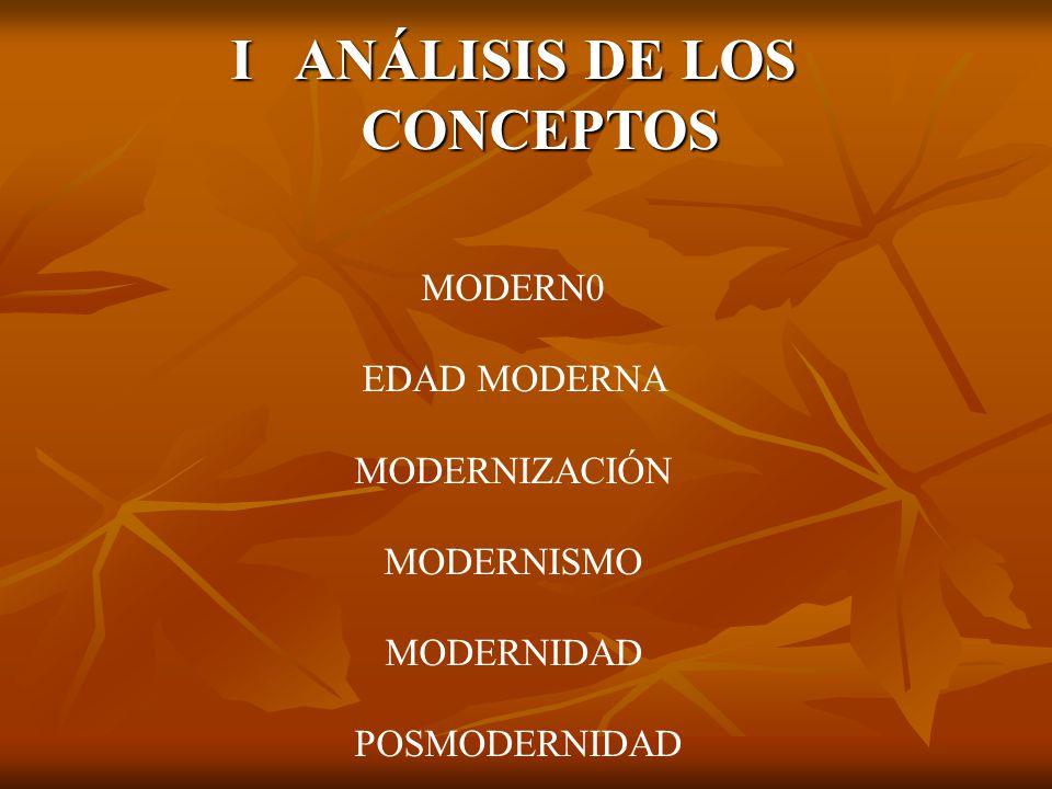 I ANÁLISIS DE LOS CONCEPTOS