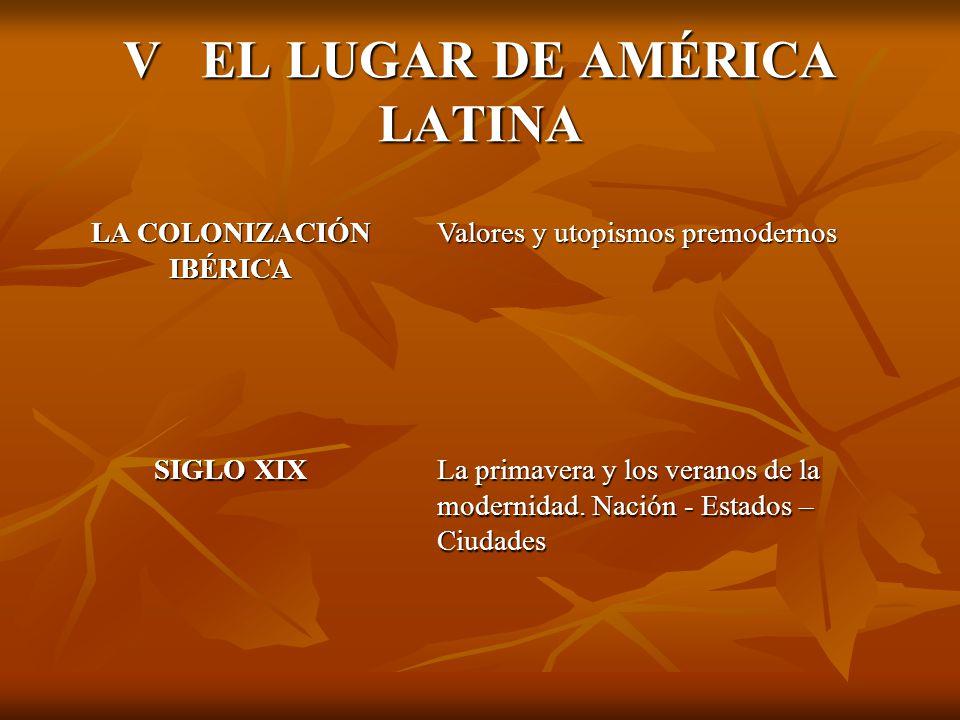 V EL LUGAR DE AMÉRICA LATINA
