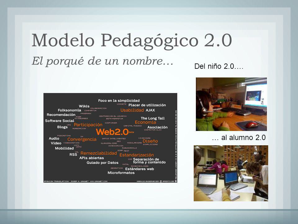 Modelo Pedagógico 2.0 El porqué de un nombre… Del niño 2.0….
