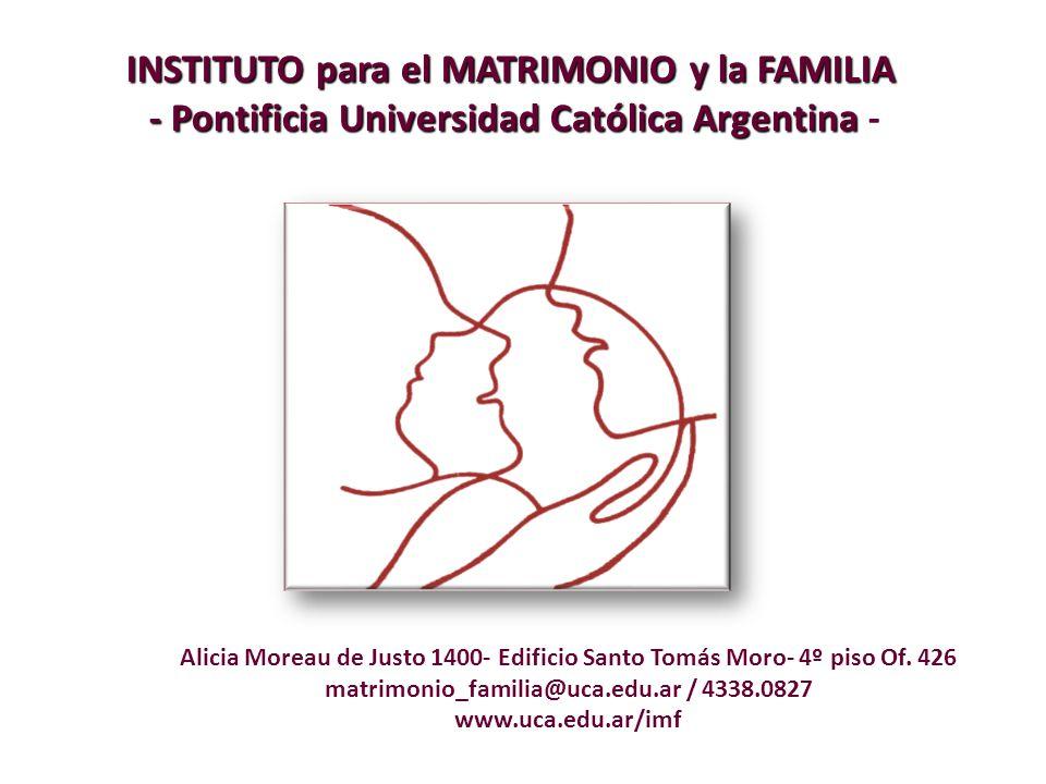 matrimonio_familia@uca.edu.ar / 4338.0827