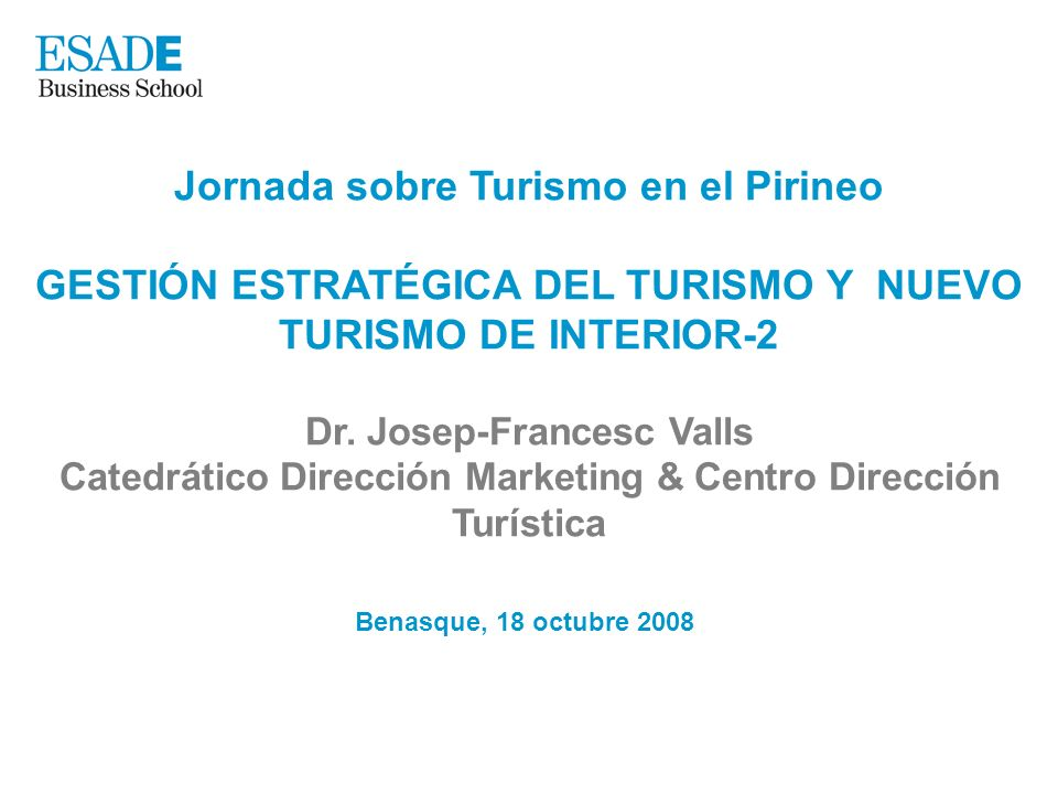 Jornada sobre Turismo en el Pirineo