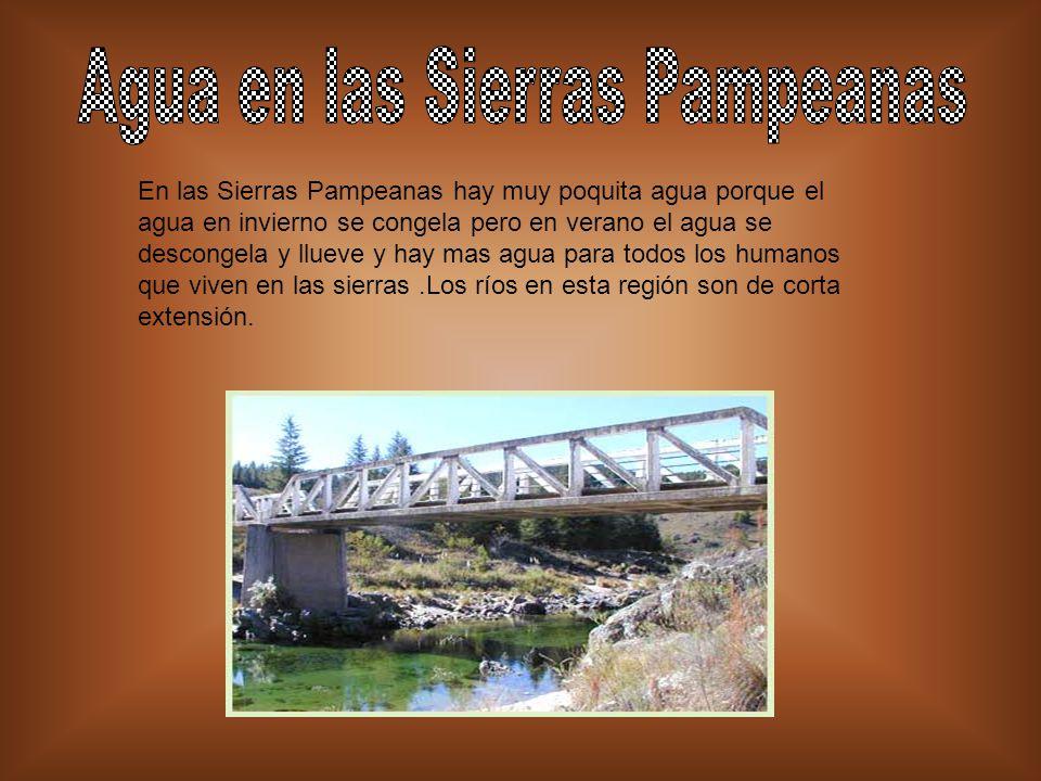 Agua en las Sierras Pampeanas