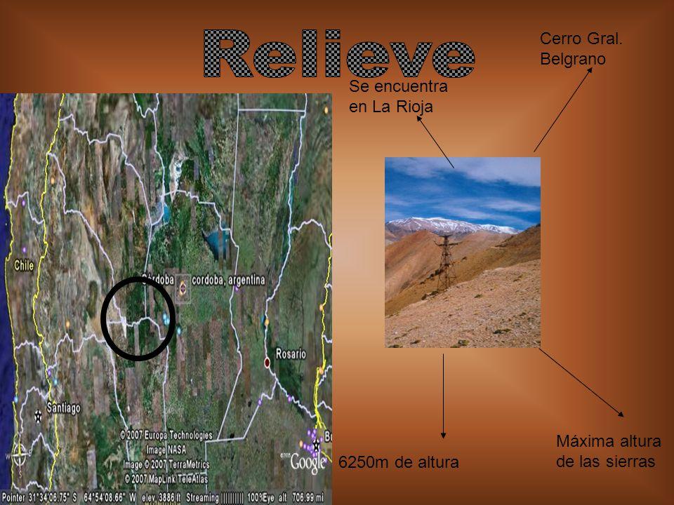 Relieve Cerro Gral. Belgrano Se encuentra en La Rioja
