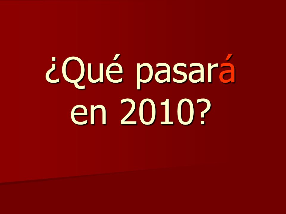 ¿Qué pasará en 2010