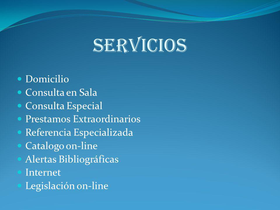 SERVICIOS Domicilio Consulta en Sala Consulta Especial