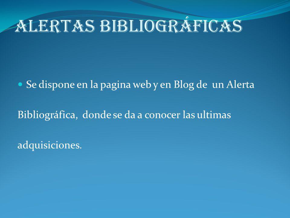 Alertas Bibliográficas