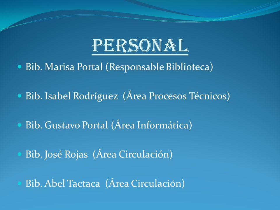 PERSONAL Bib. Marisa Portal (Responsable Biblioteca)