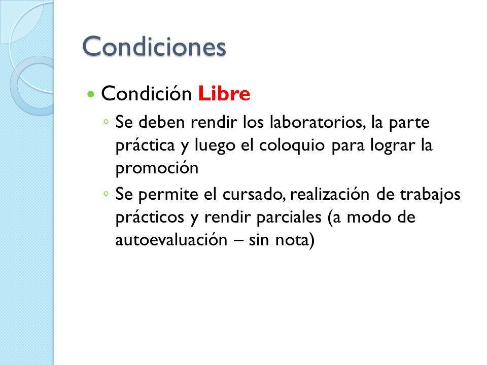 Condiciones Condición Libre