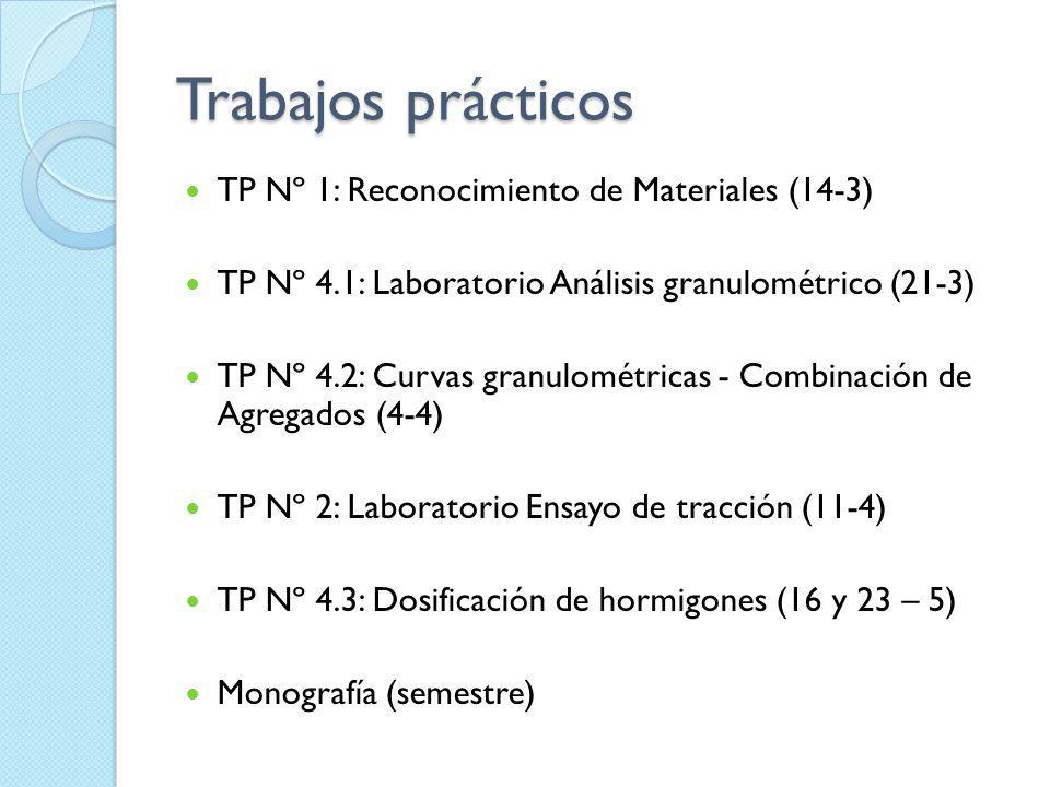 Trabajos prácticos TP Nº 1: Reconocimiento de Materiales (14-3)
