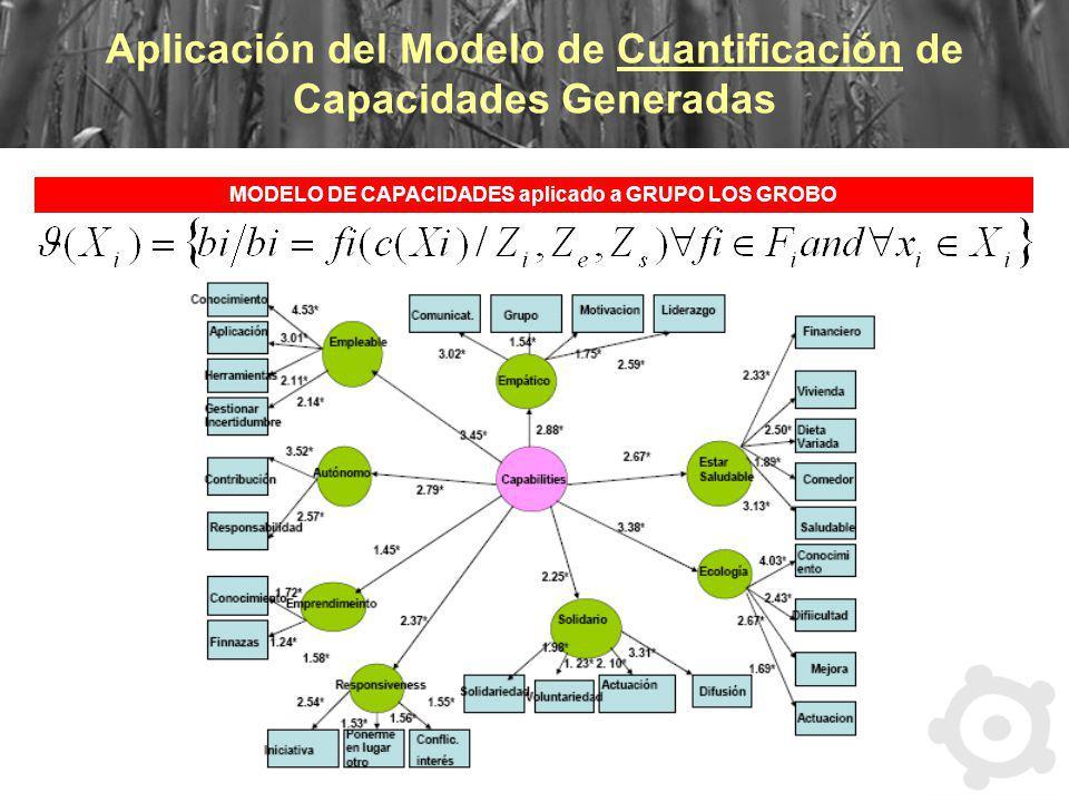 Aplicación del Modelo de Cuantificación de Capacidades Generadas