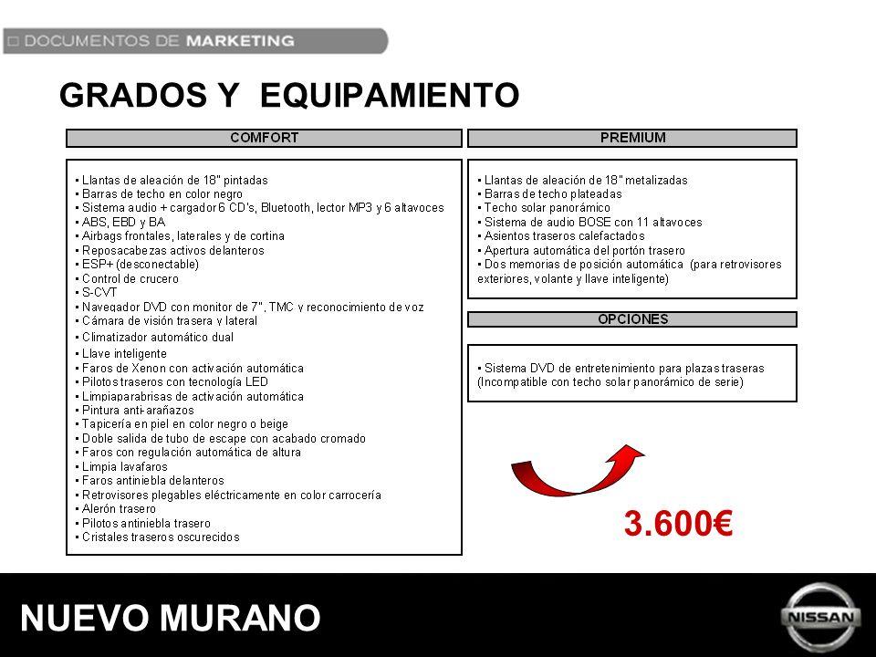 GRADOS Y EQUIPAMIENTO 3.600€ NUEVO MURANO