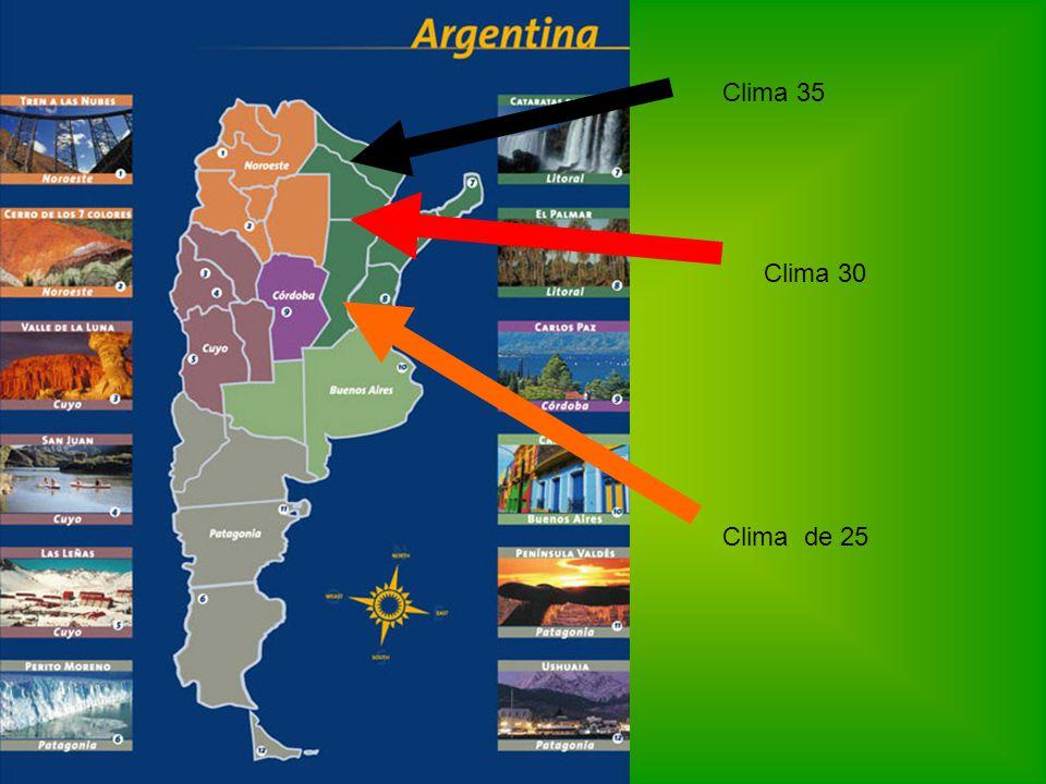 Clima 35 Clima 30 Clima de 25