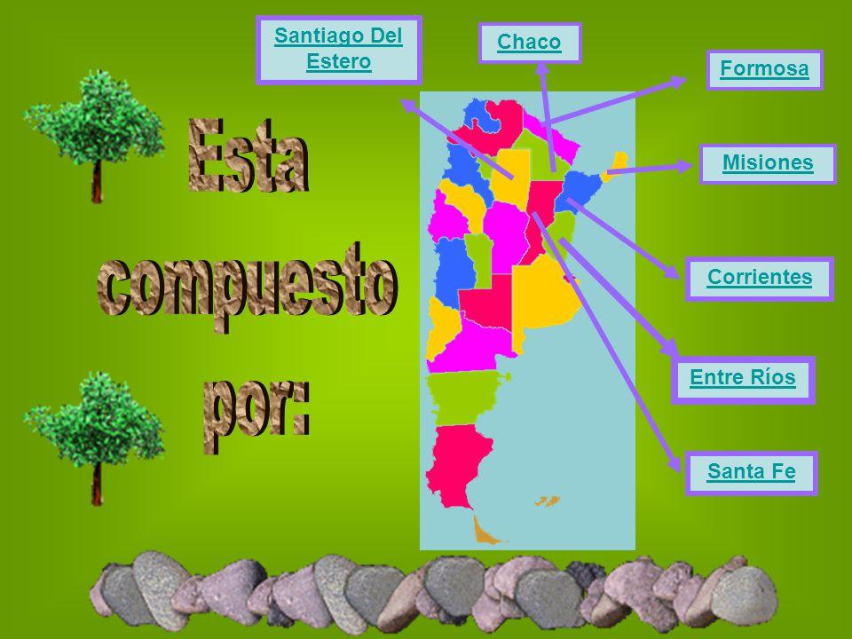 Esta compuesto por: Santiago Del Estero Chaco Formosa Misiones