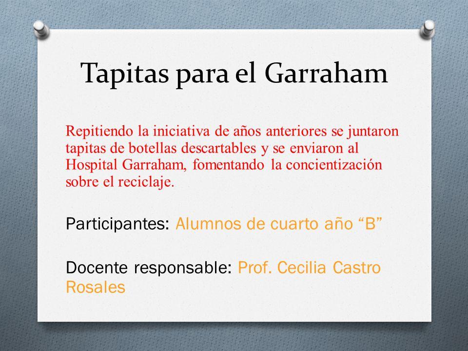 Tapitas para el Garraham