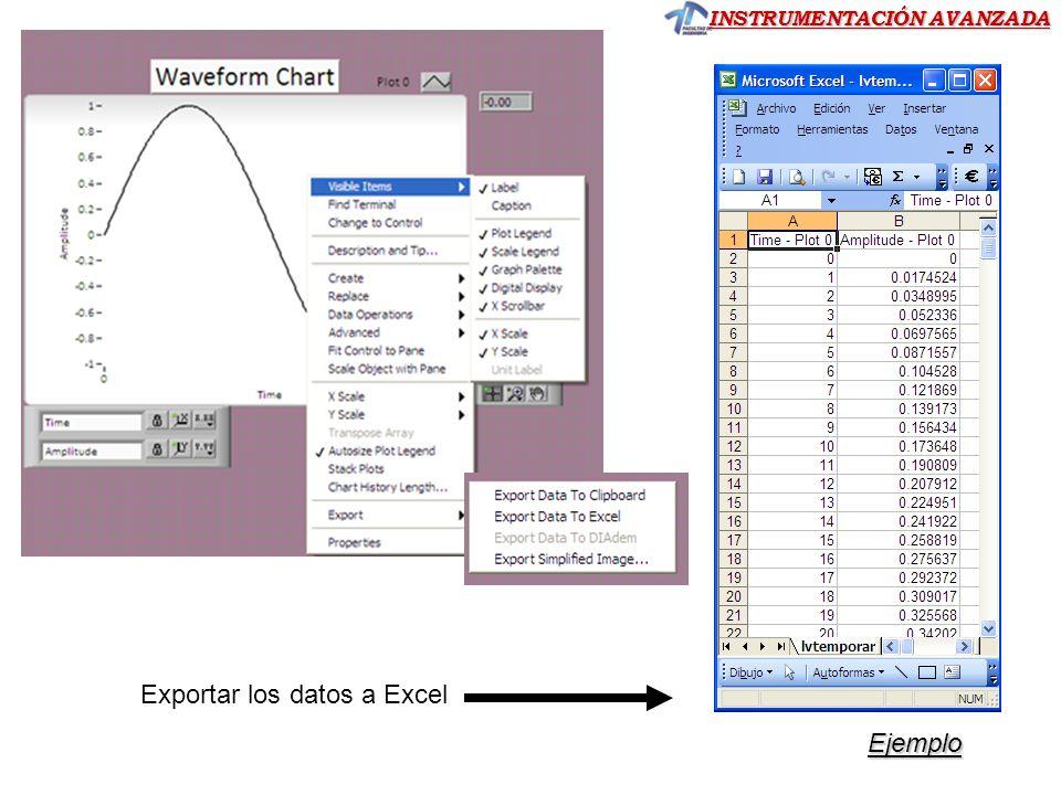 Exportar los datos a Excel