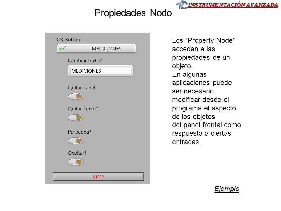 Propiedades Nodo Los Property Node acceden a las propiedades de un objeto. En algunas.