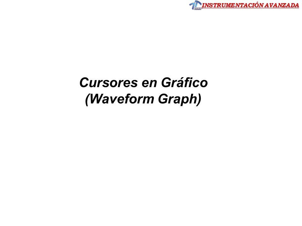 Cursores en Gráfico (Waveform Graph)