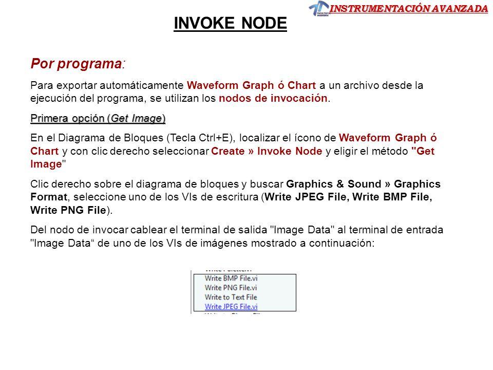 INVOKE NODE Por programa: