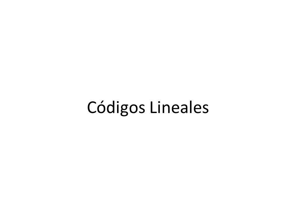 Códigos Lineales