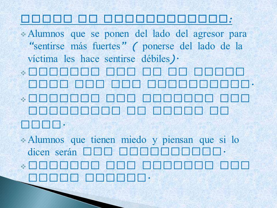 TIPOS DE ESPECTADORES: