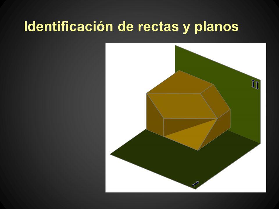 Identificación de rectas y planos