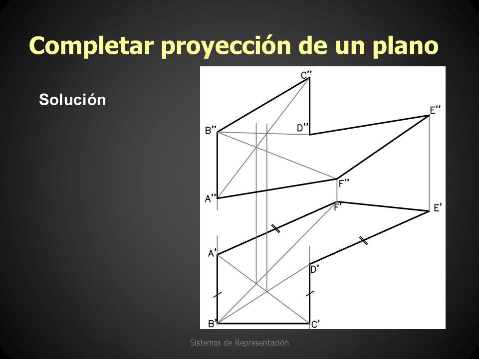 Completar proyección de un plano