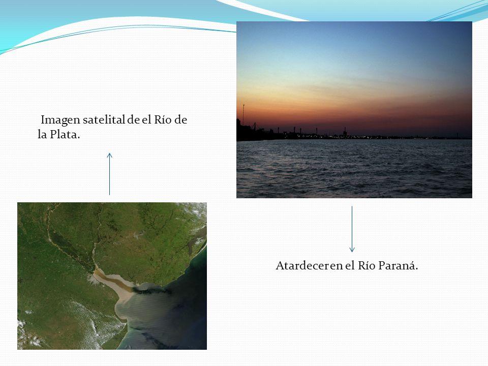 Imagen satelital de el Río de la Plata.