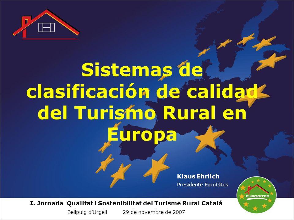 Sistemas de clasificación de calidad del Turismo Rural en Europa