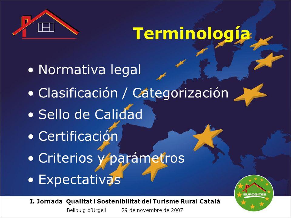 Terminología Normativa legal Clasificación / Categorización