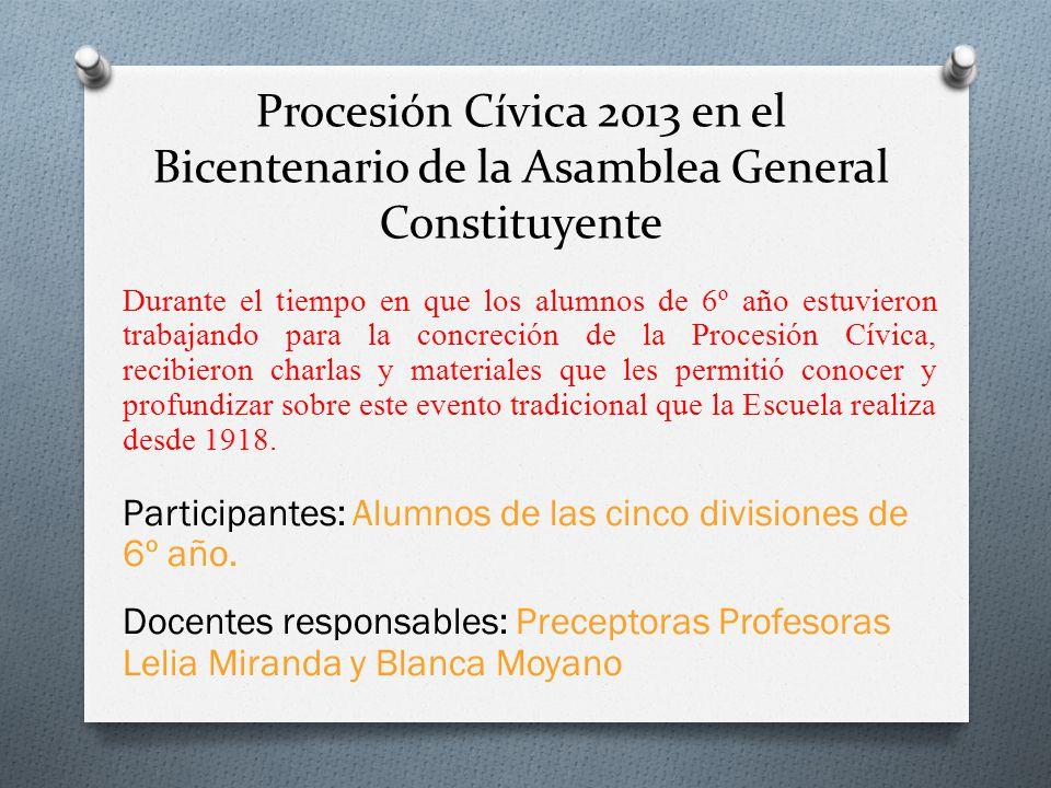 Procesión Cívica 2013 en el Bicentenario de la Asamblea General Constituyente