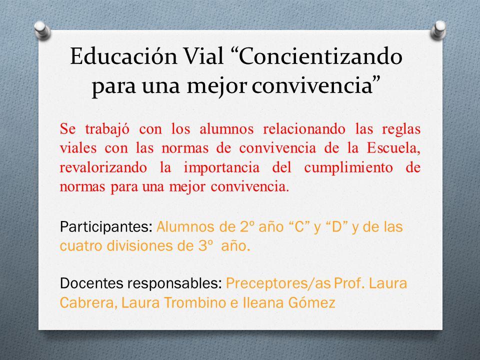 Educación Vial Concientizando para una mejor convivencia
